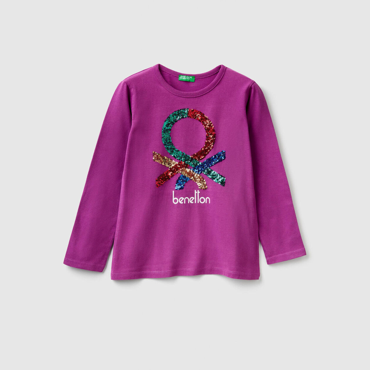 T-shirt with print and sequins
