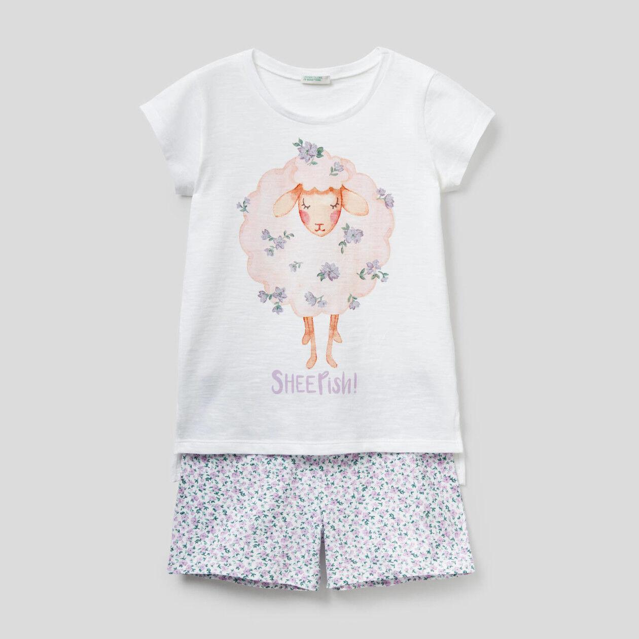 Kurzer Pyjama aus 100% Baumwolle