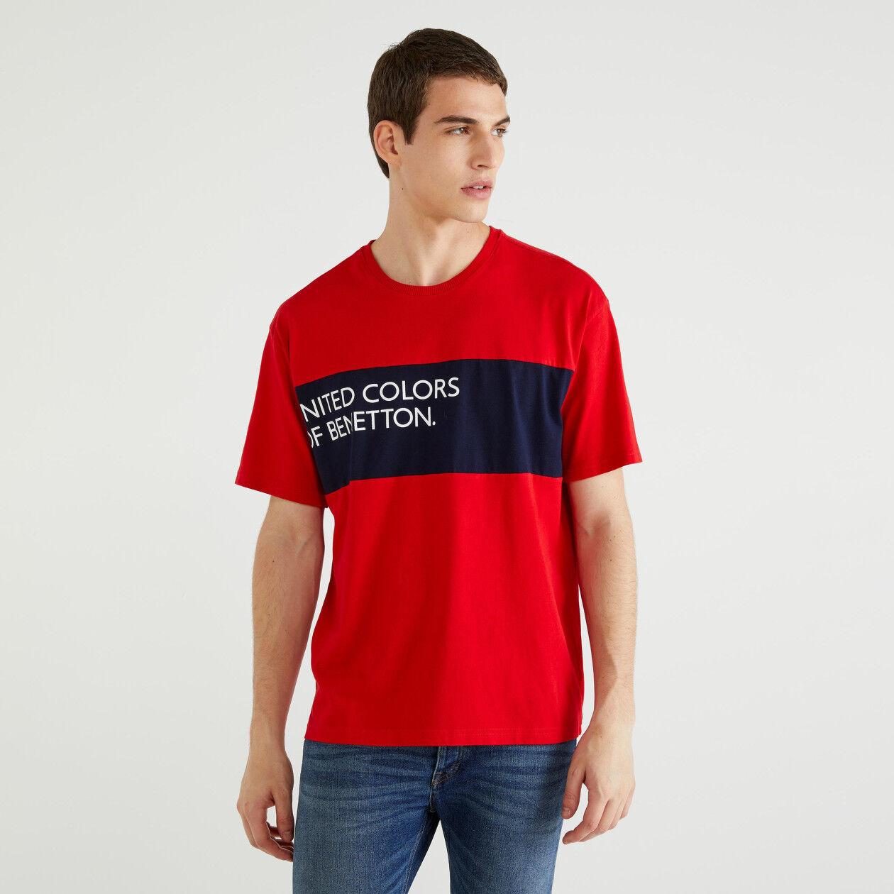 T-Shirt mit Einsatz und Logo