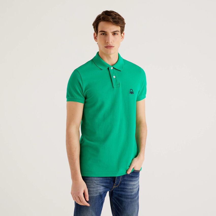 Polo vert coupe slim