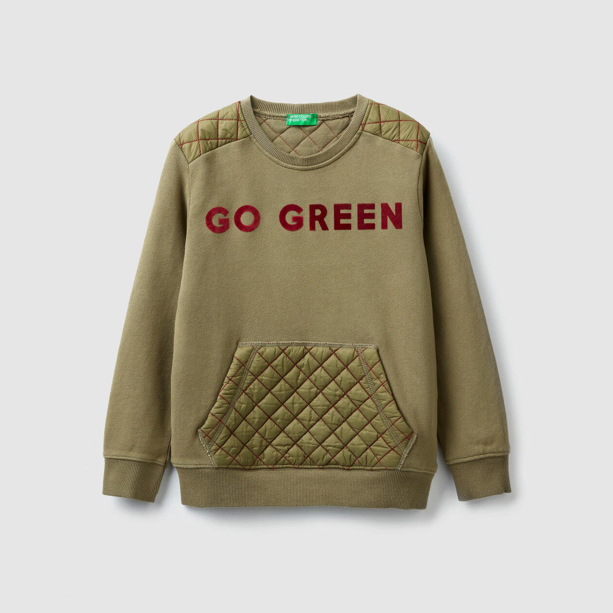 Sweatshirt with quilted details