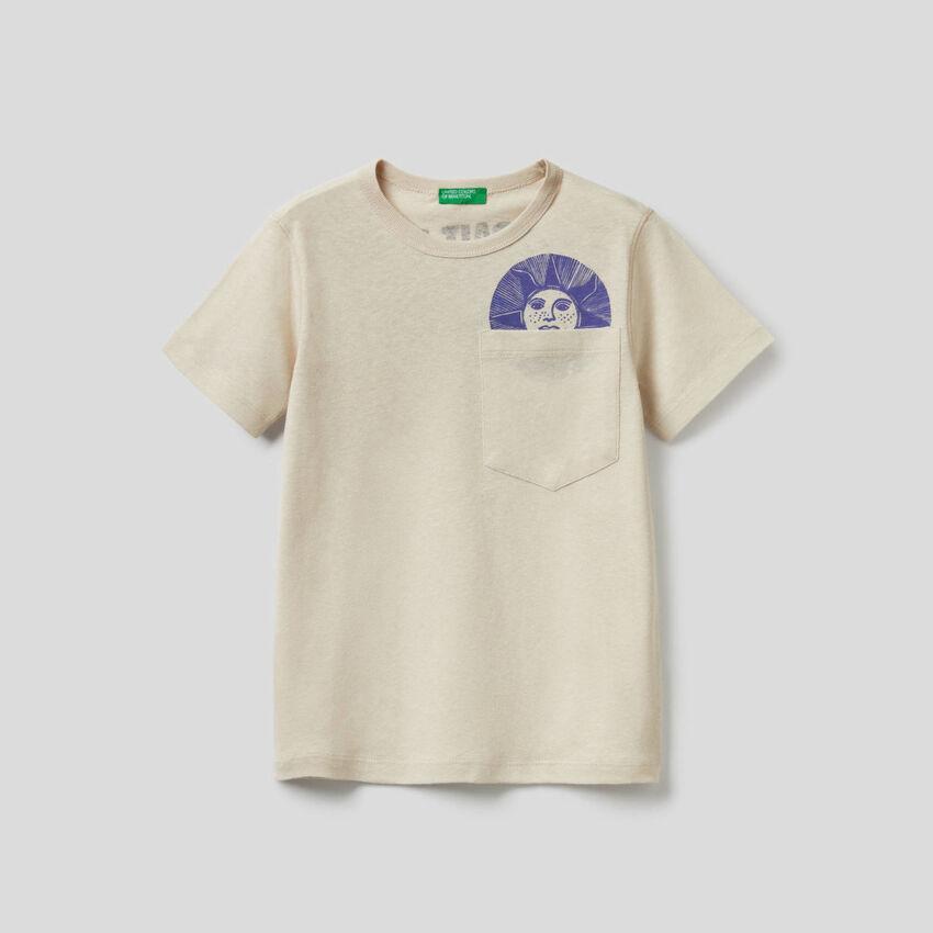 T-shirt avec message imprimé