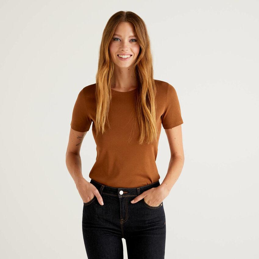 T-shirt en coton à longues fibres