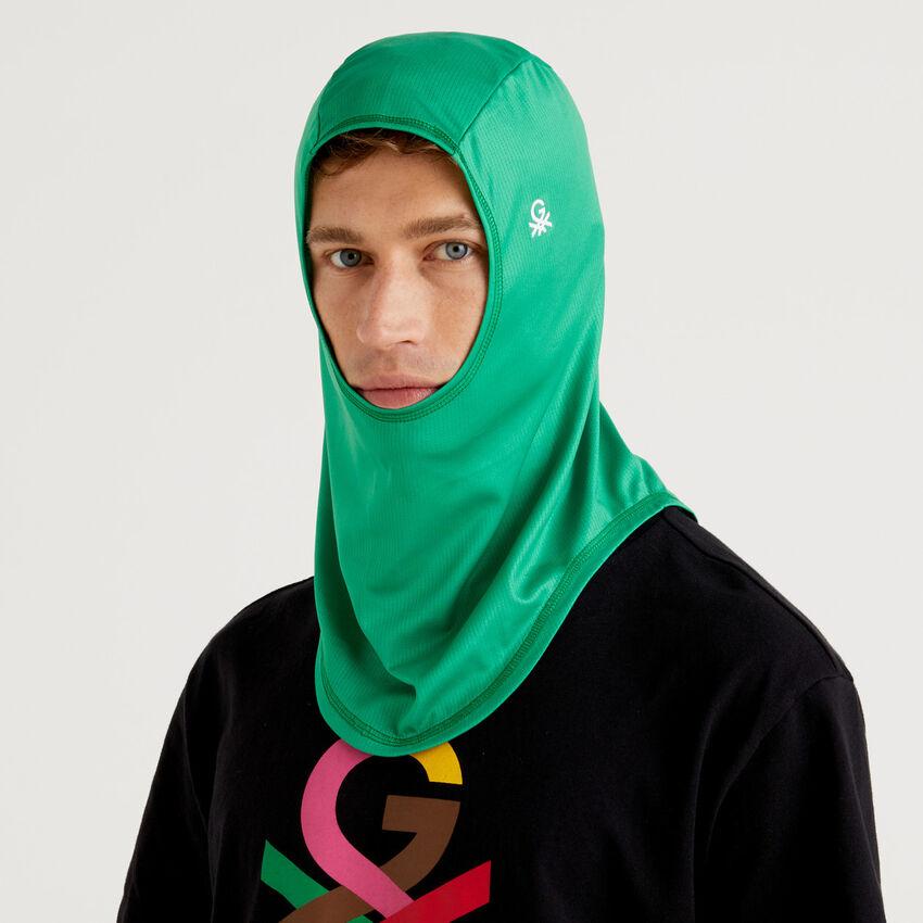 Hijab unisexe vert avec logo by Ghali
