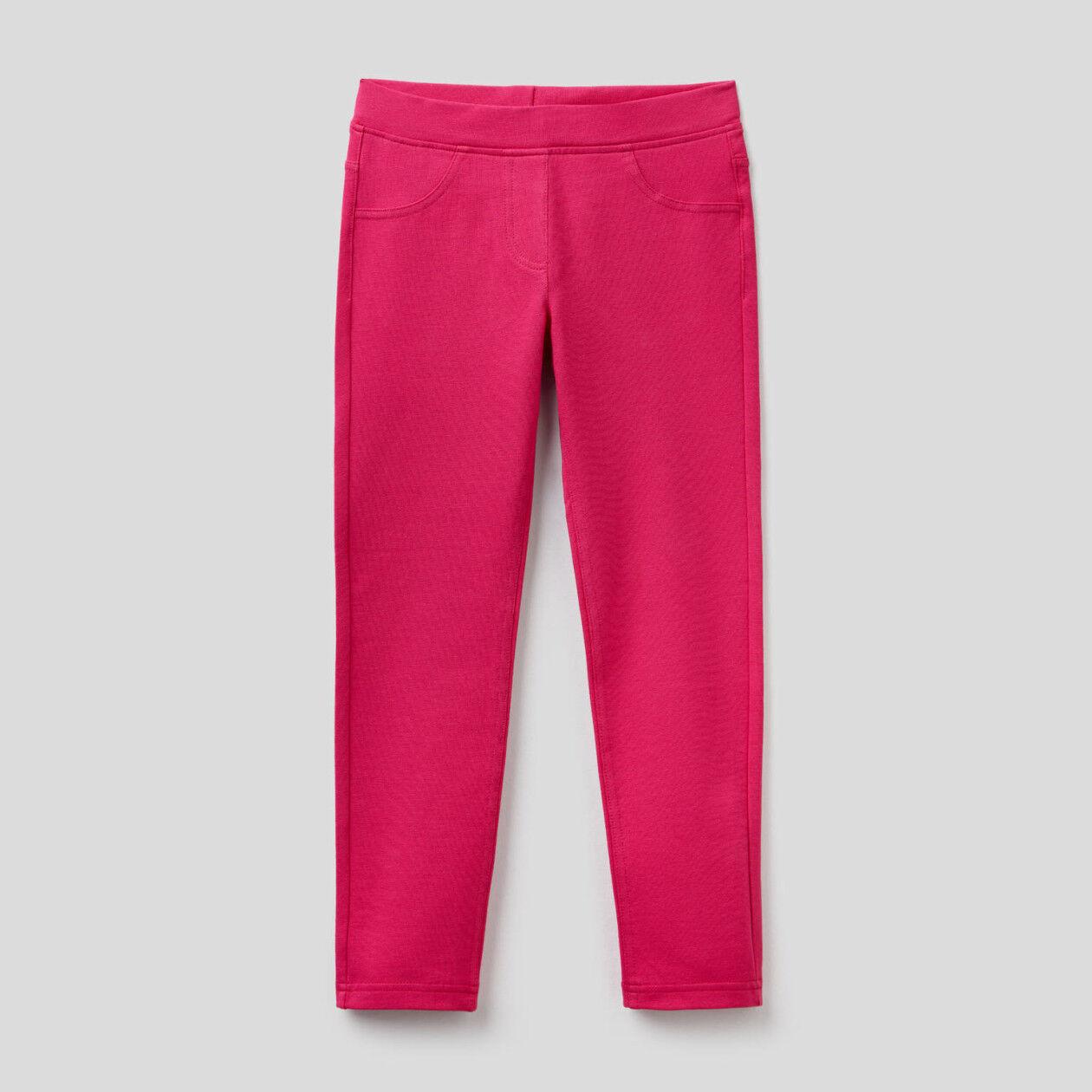 Super-Skinny-Hose aus Sweatstoff