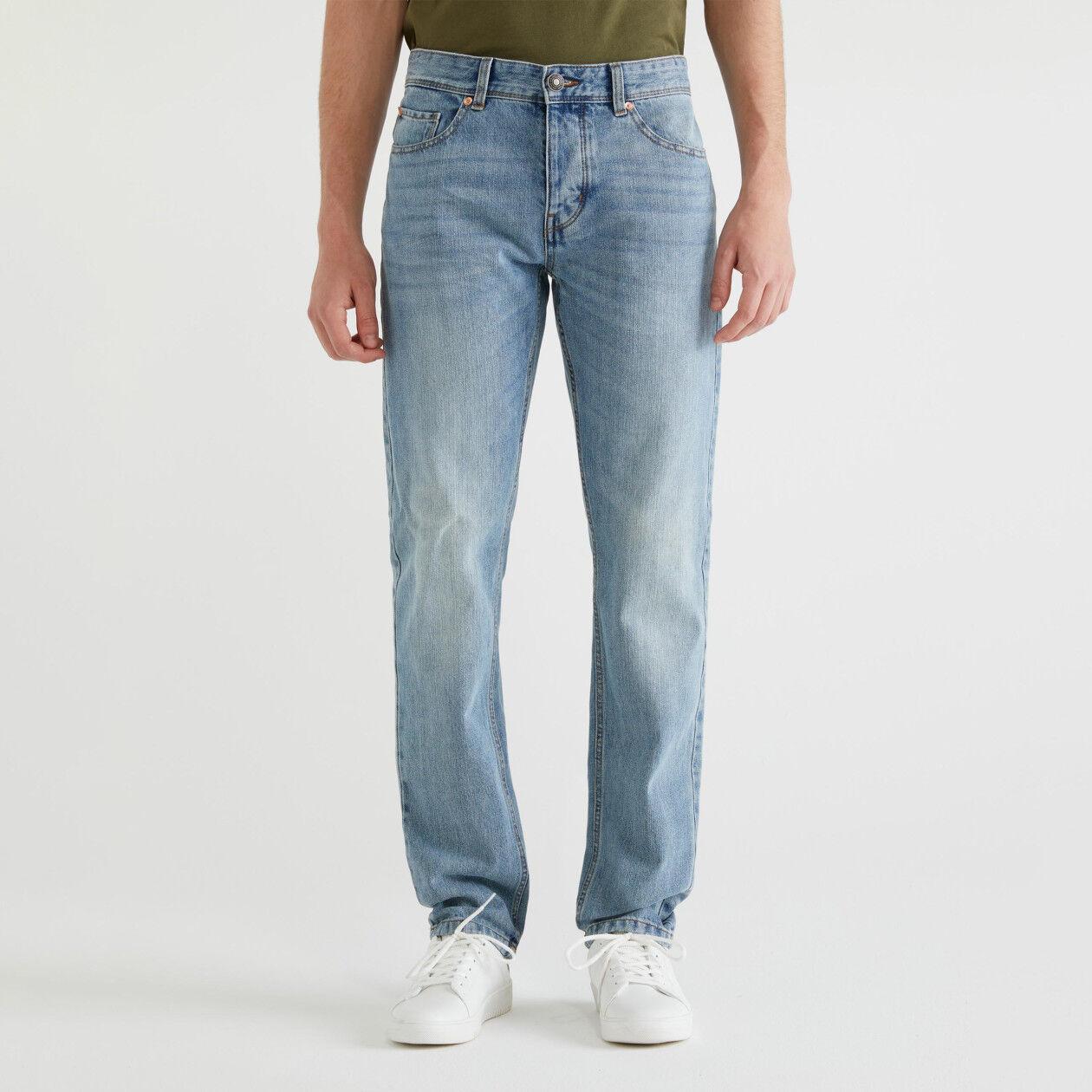 Five-Pocket-Jeans mit Straight Fit