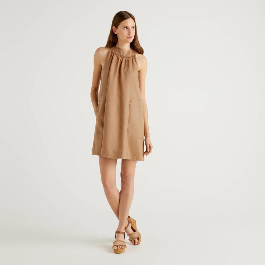 Robe sans manches 100% lin