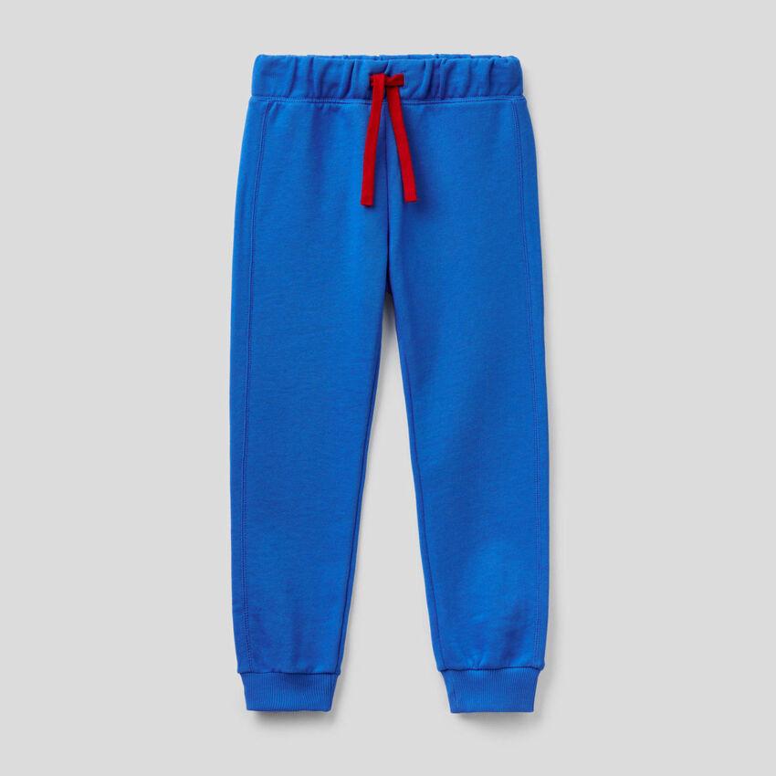 Hose aus Sweatstoff in 100% Baumwolle in Bluette