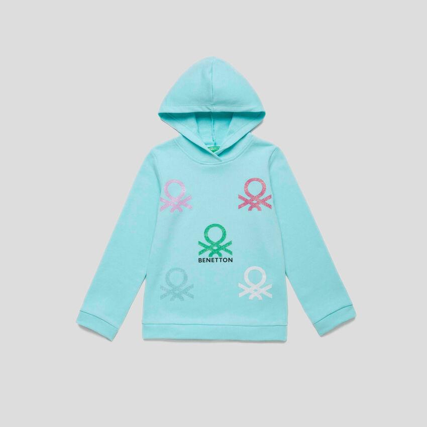 Sweatshirt mit Logo und Kapuze