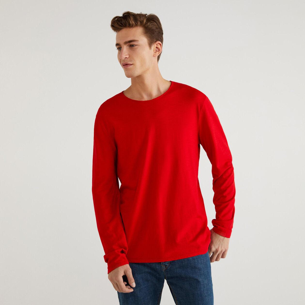 T-Shirt aus Jersey mit Rundausschnitt