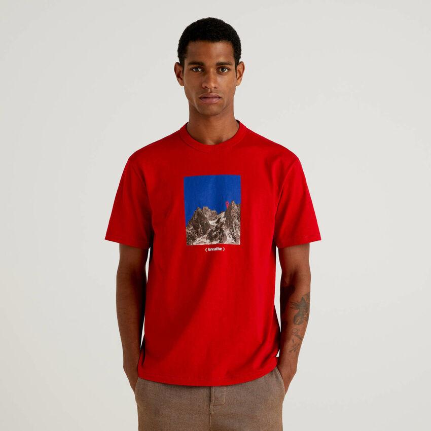 T-shirt en 100% coton bio à imprimé