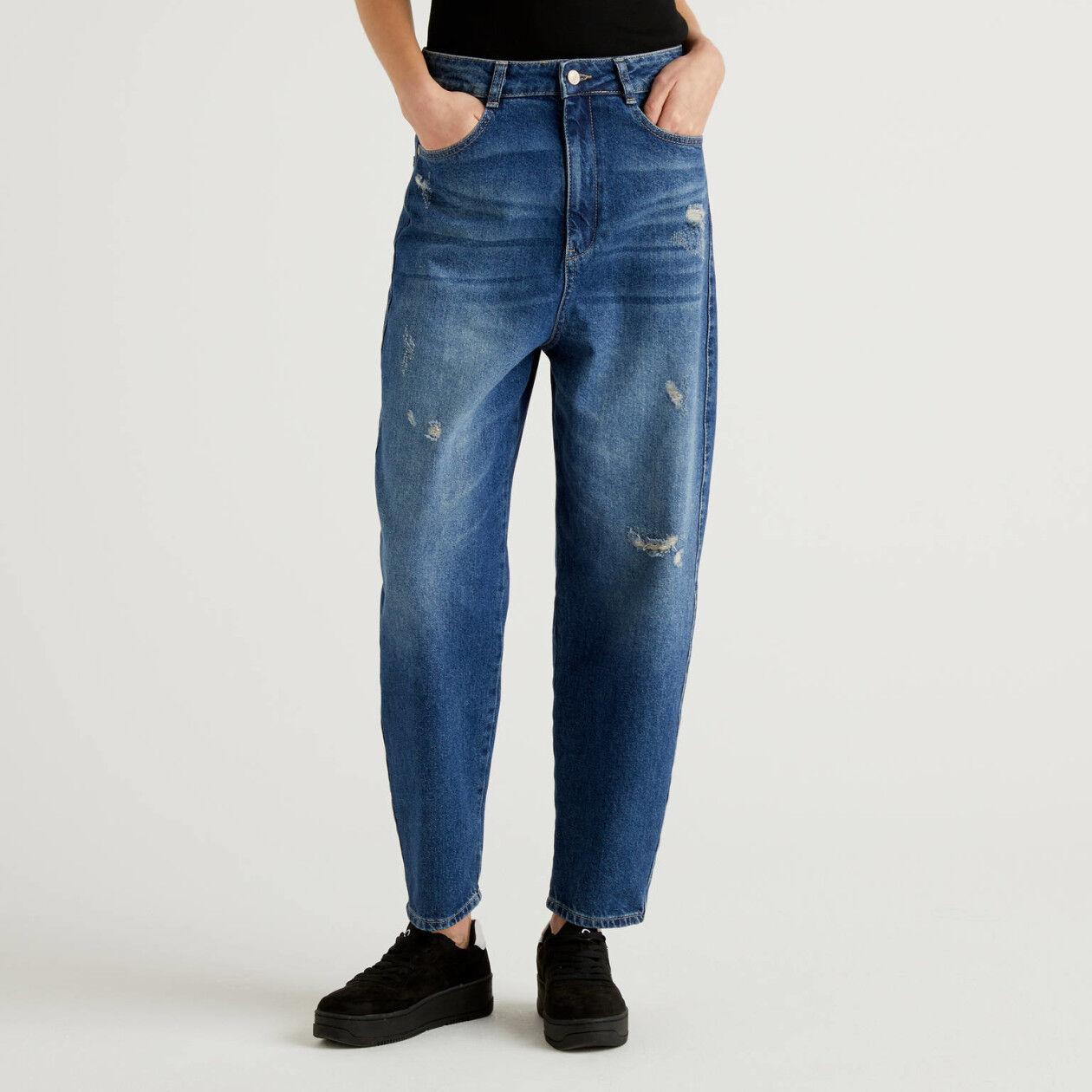 Jeans im Carrot Fit aus Denim in 100% Baumwolle