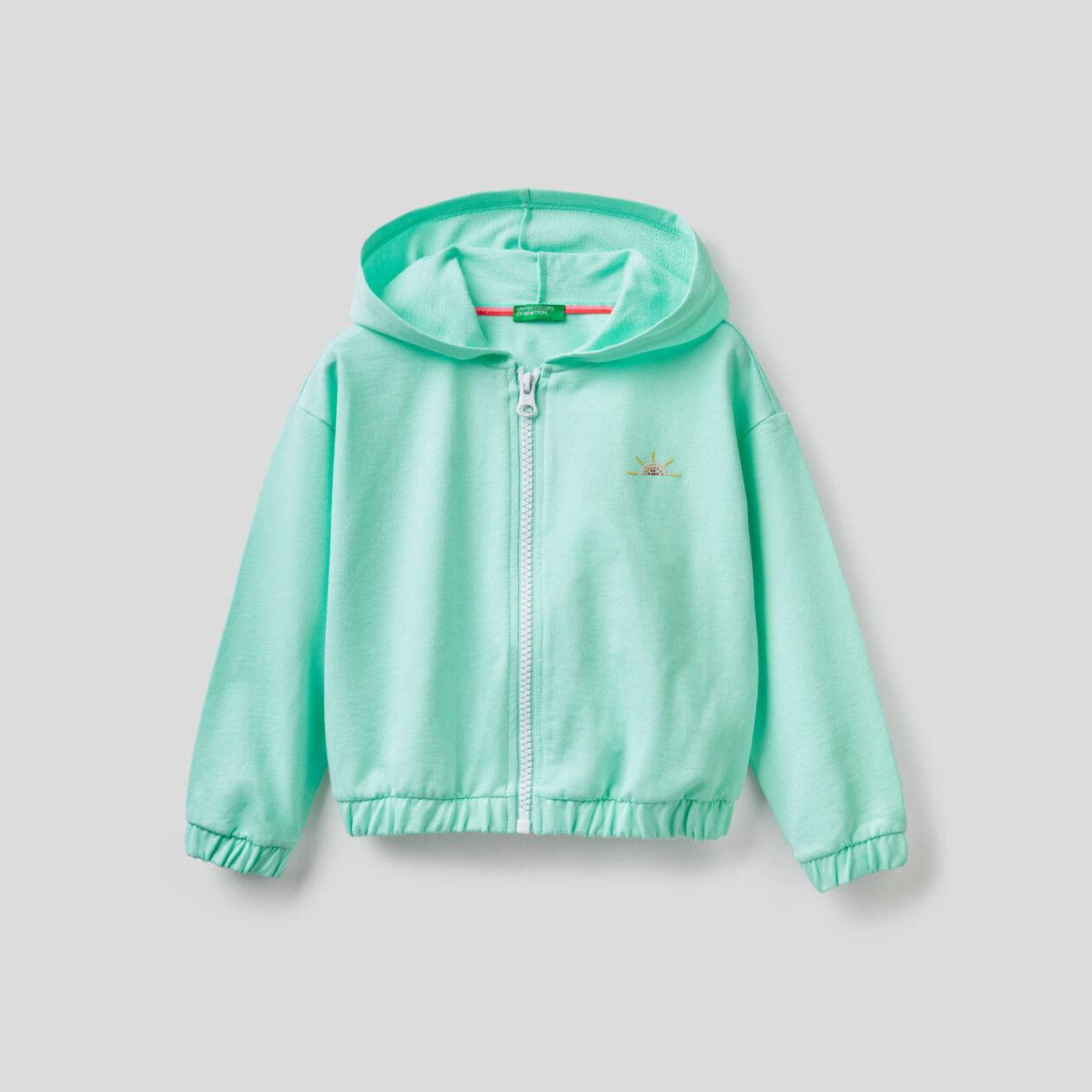 Leichtes Sweatshirt mit Reißverschluss und Kapuze