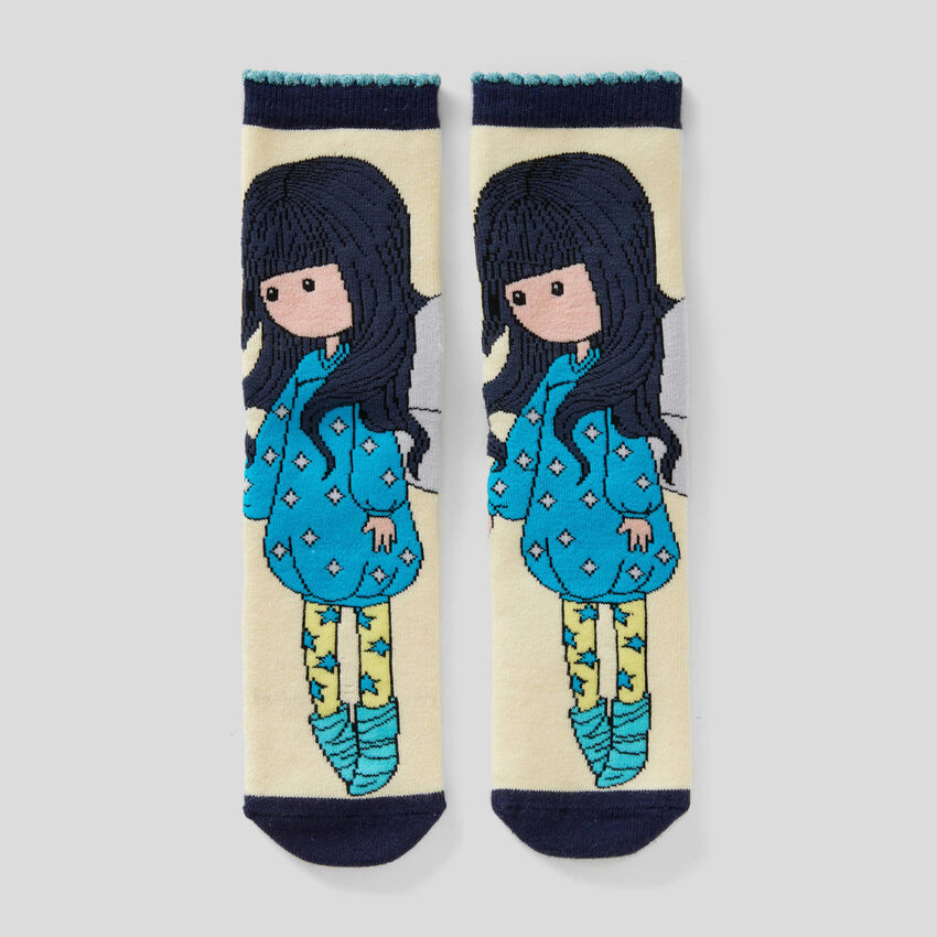 Non-slip socks with Gorjuss graphics