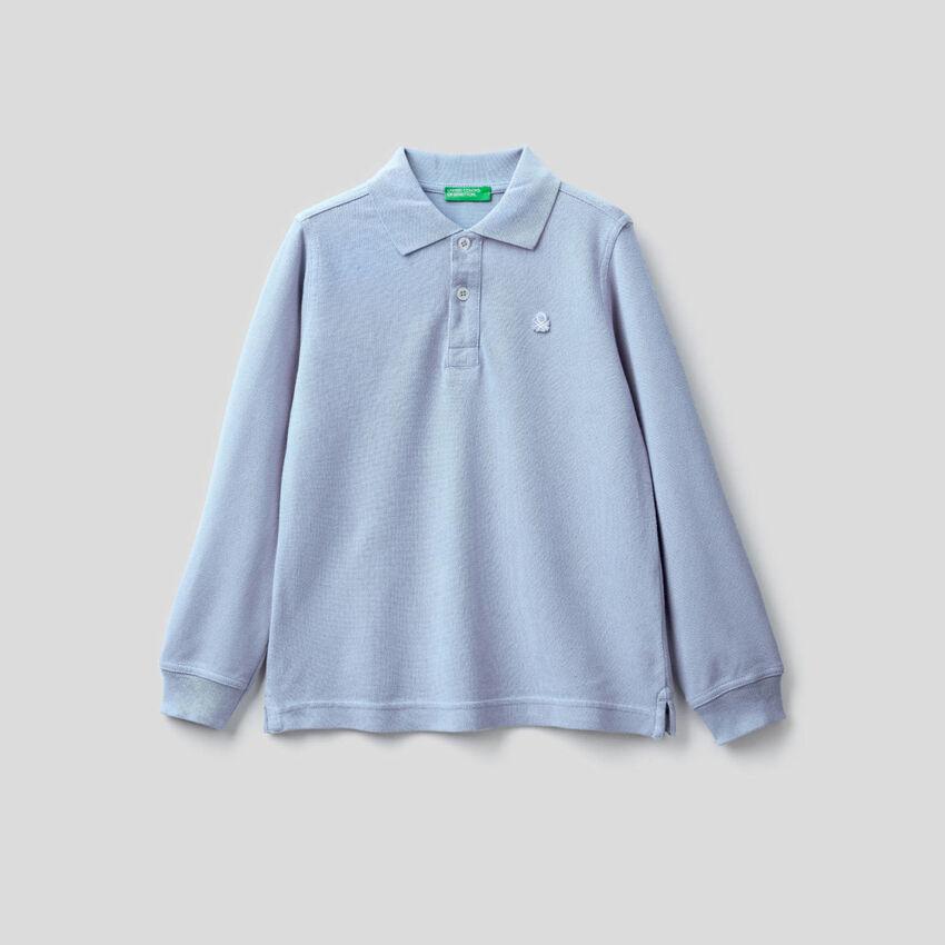 100% organic cotton long sleeve polo