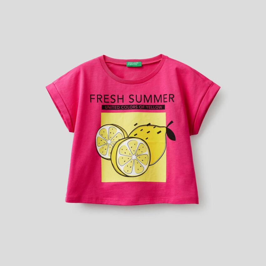 Boxy-T-Shirt mit Print