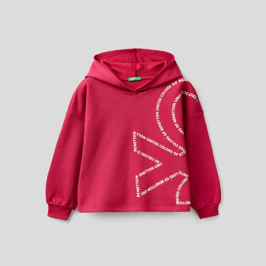 Boxy-Sweatshirt aus 100% Baumwolle