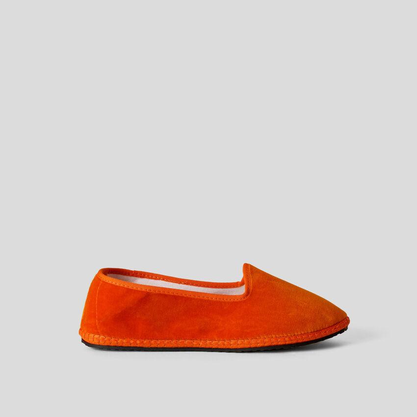 Orange Friulane aus Samt