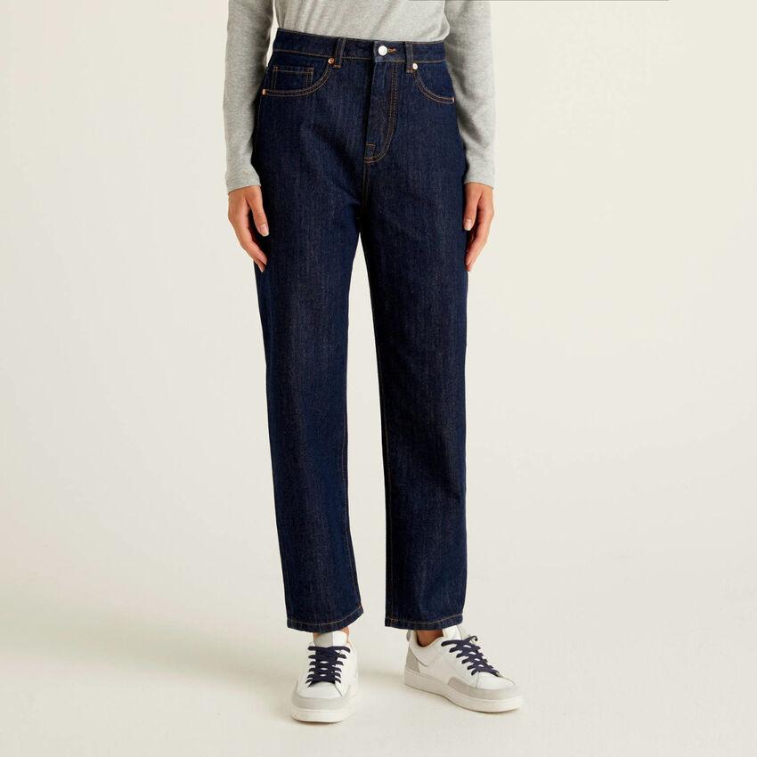 Boyfriend Fit-Jeans in 100% Baumwolle