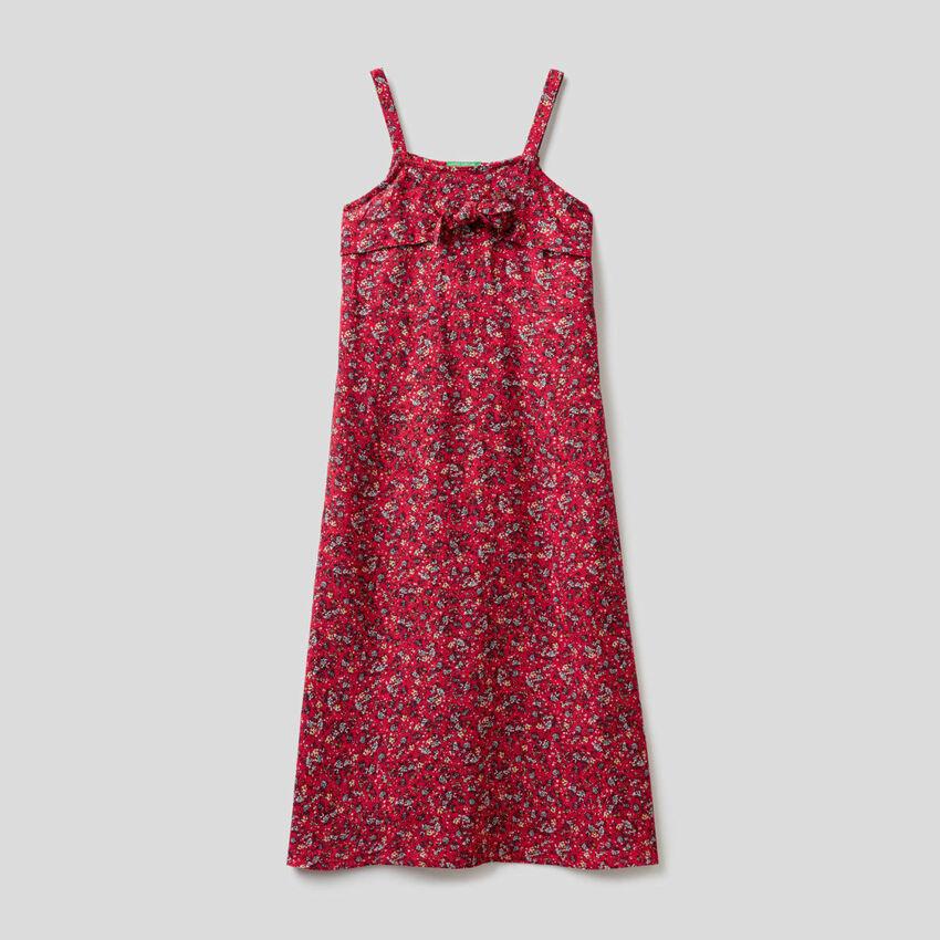 Langes Kleid mit Blumenprint