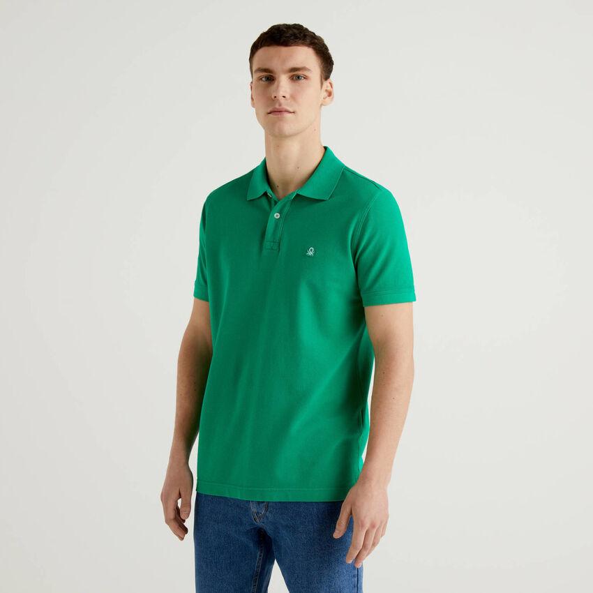 Polo vert coupe regular personnalisable