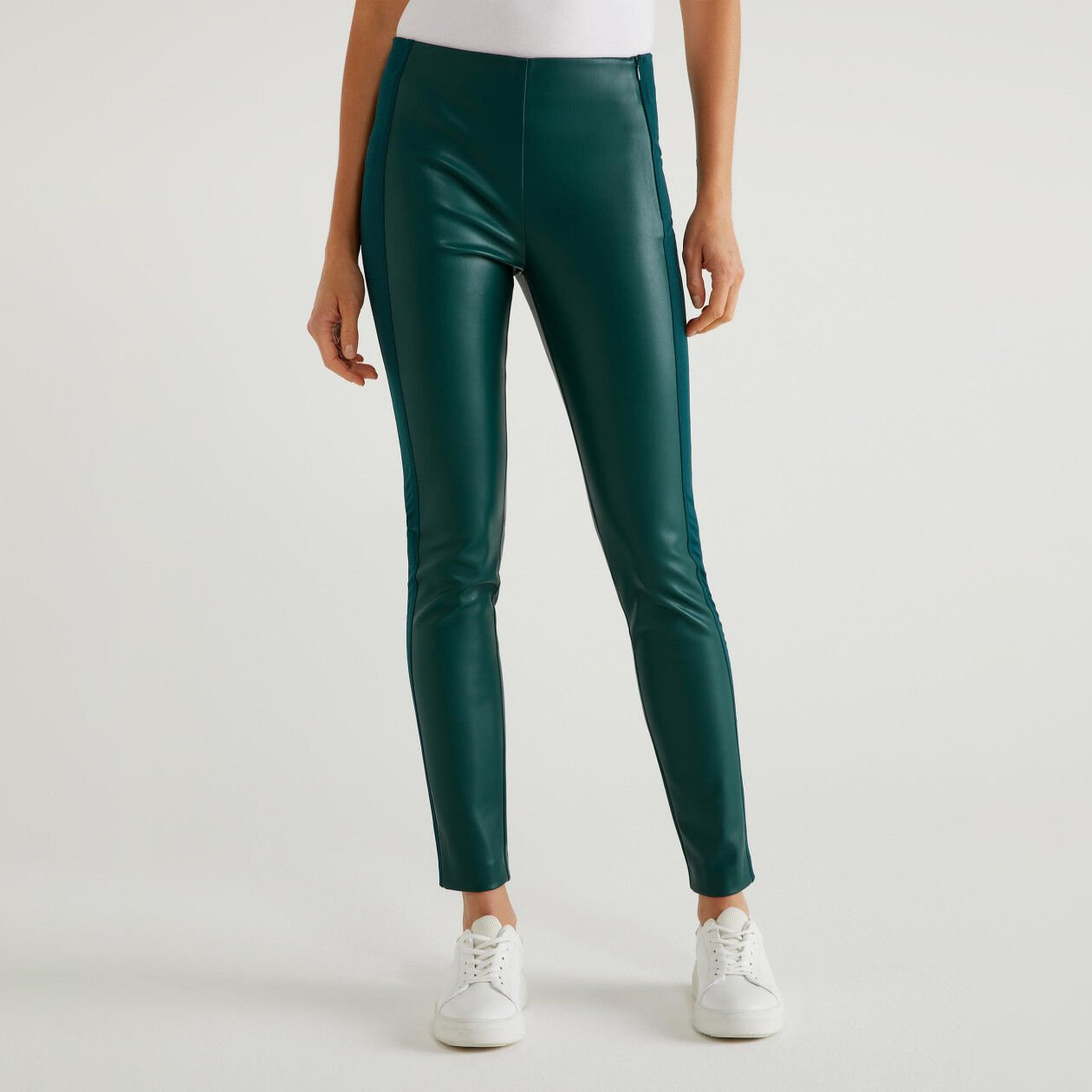 Leather look trousers
