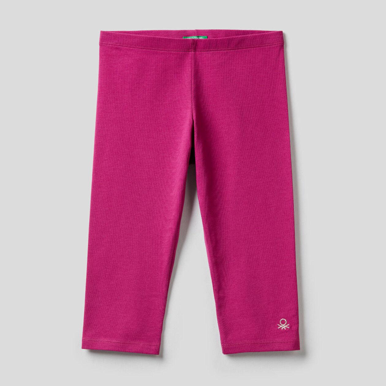 3/4-Leggings aus stretchiger Baumwolle