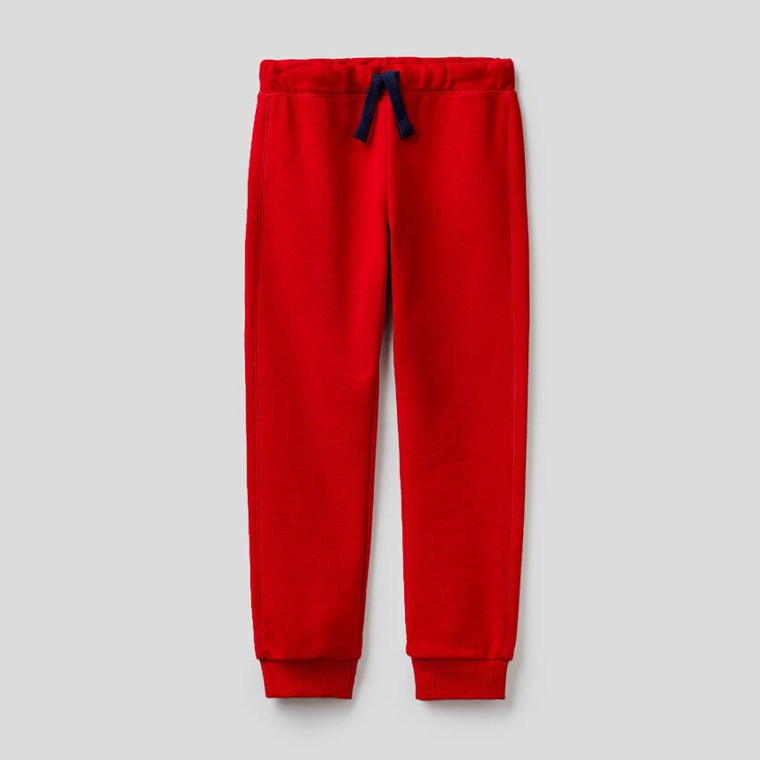 Red 100% cotton sweatpants