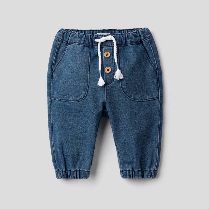 Pantalon en molleton effet denim