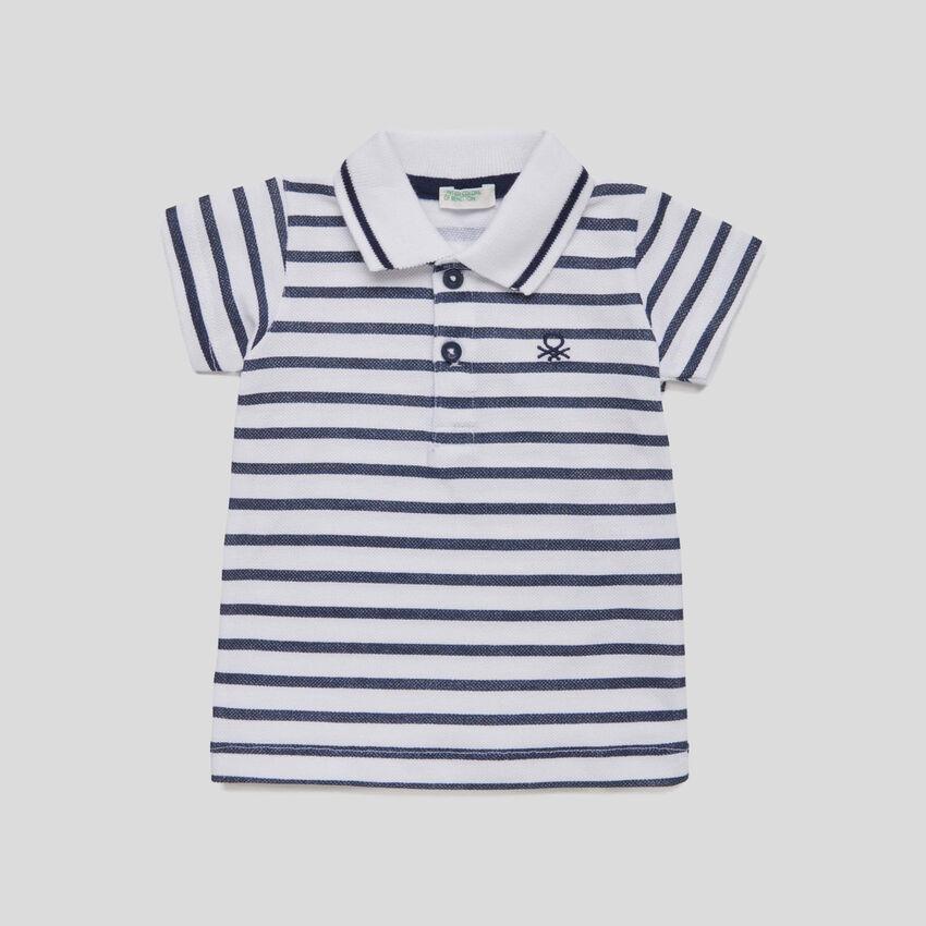 Polo mit Streifen und Logo