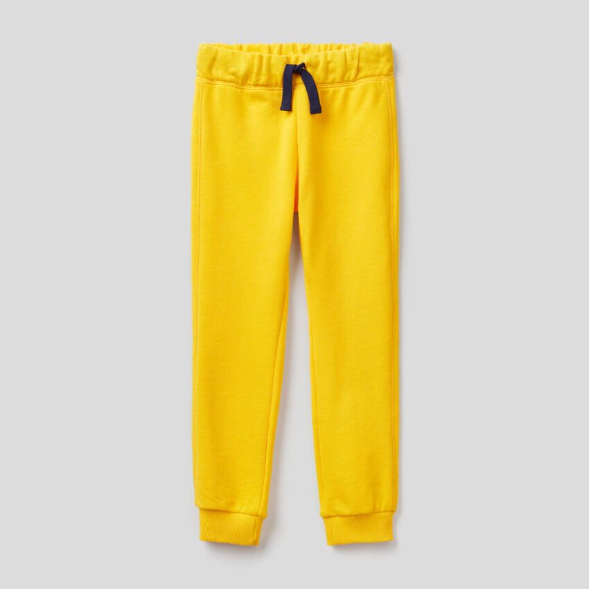 Yellow 100% cotton sweatpants