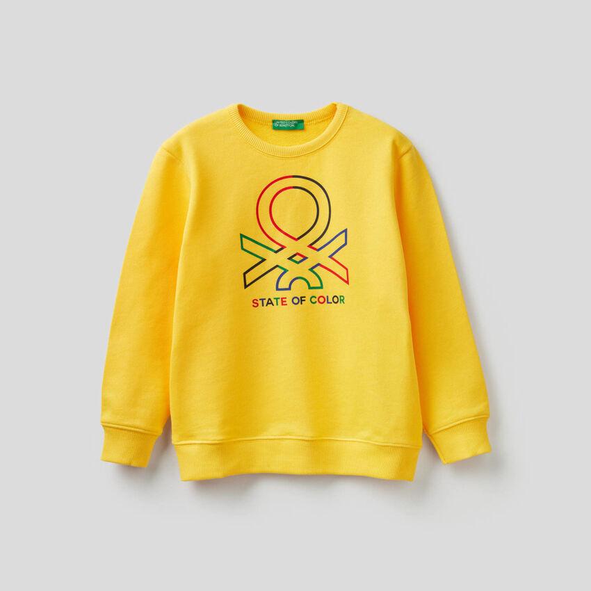 Pure cotton sweatshirt with logo