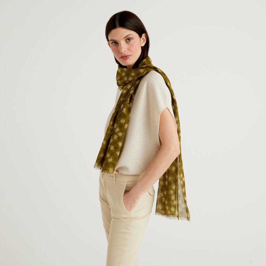 Gemusterter Schal aus Bio-Baumwolle