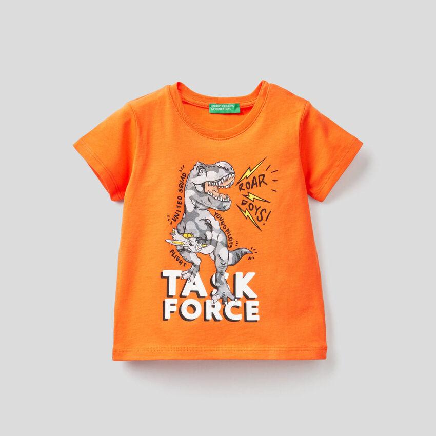 T-Shirt mit Print aus Bio-Baumwolle