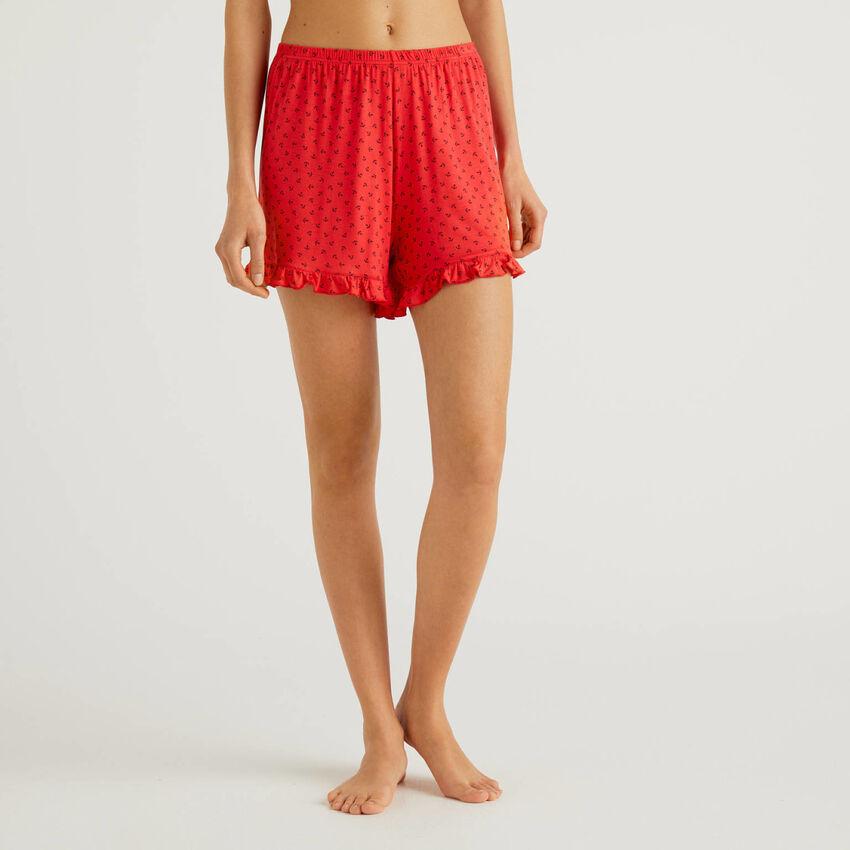 Shorts mit Musterprint