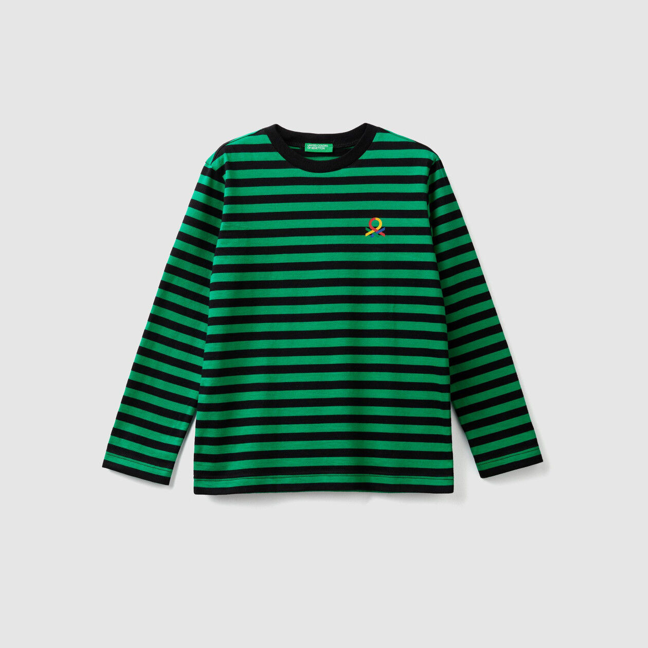Striped t-shirt with logo