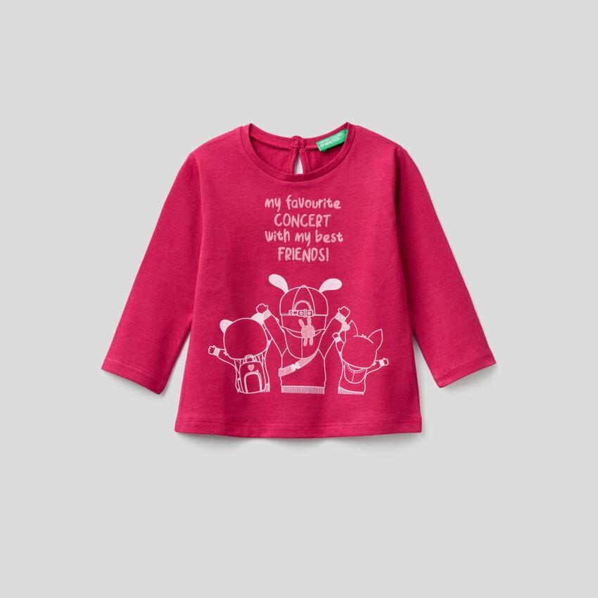 T-shirt manches longues en pur coton bio