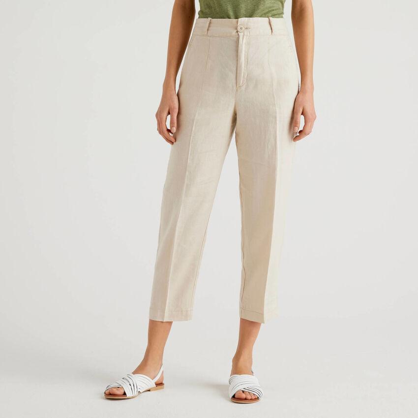 Pantalon pur lin