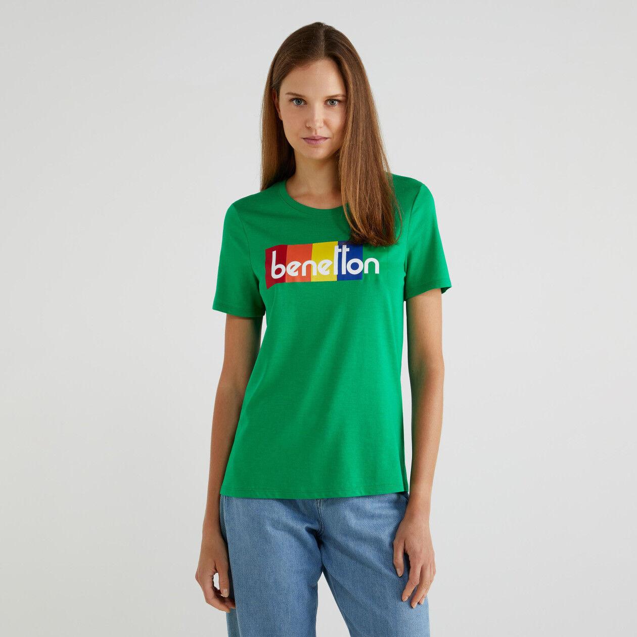 T-Shirt mit kurzen Ärmeln und Logo