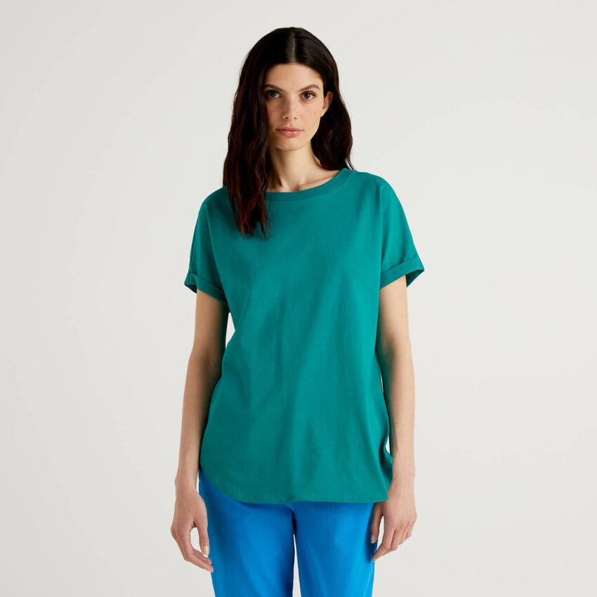 T-Shirt mit Ärmeln samt Saumaufschlag